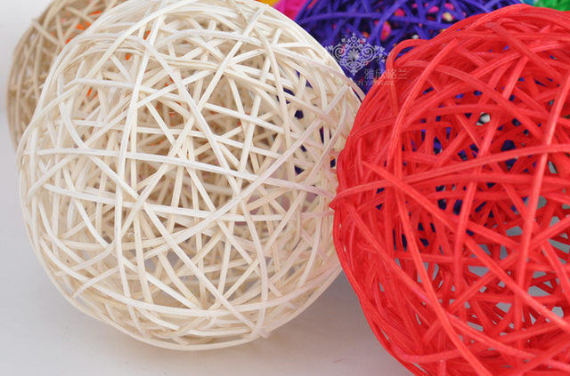 40CM Rattan Wicker Balls Vase Filler Table Scatter Wedding Christmas Classy Rattan Decorative Balls