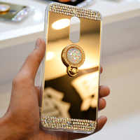 Diamond Phone Case For Samsung J3 J5 J7 A10 A20 A30 A50 A70 M10 M20 Mirror Plated cover For Samsung S10 S8 S7 S6Edge Ring Holder