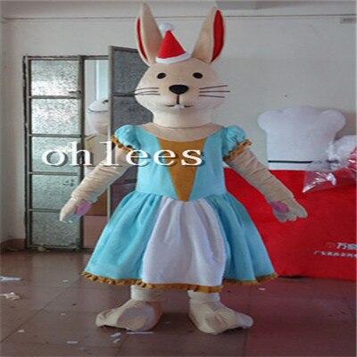 Ohlees porter robe lapin femal lapin mascotte Costume Halloween fête de noël accessoires Costumes pour adulte dessin animé animal personnaliser