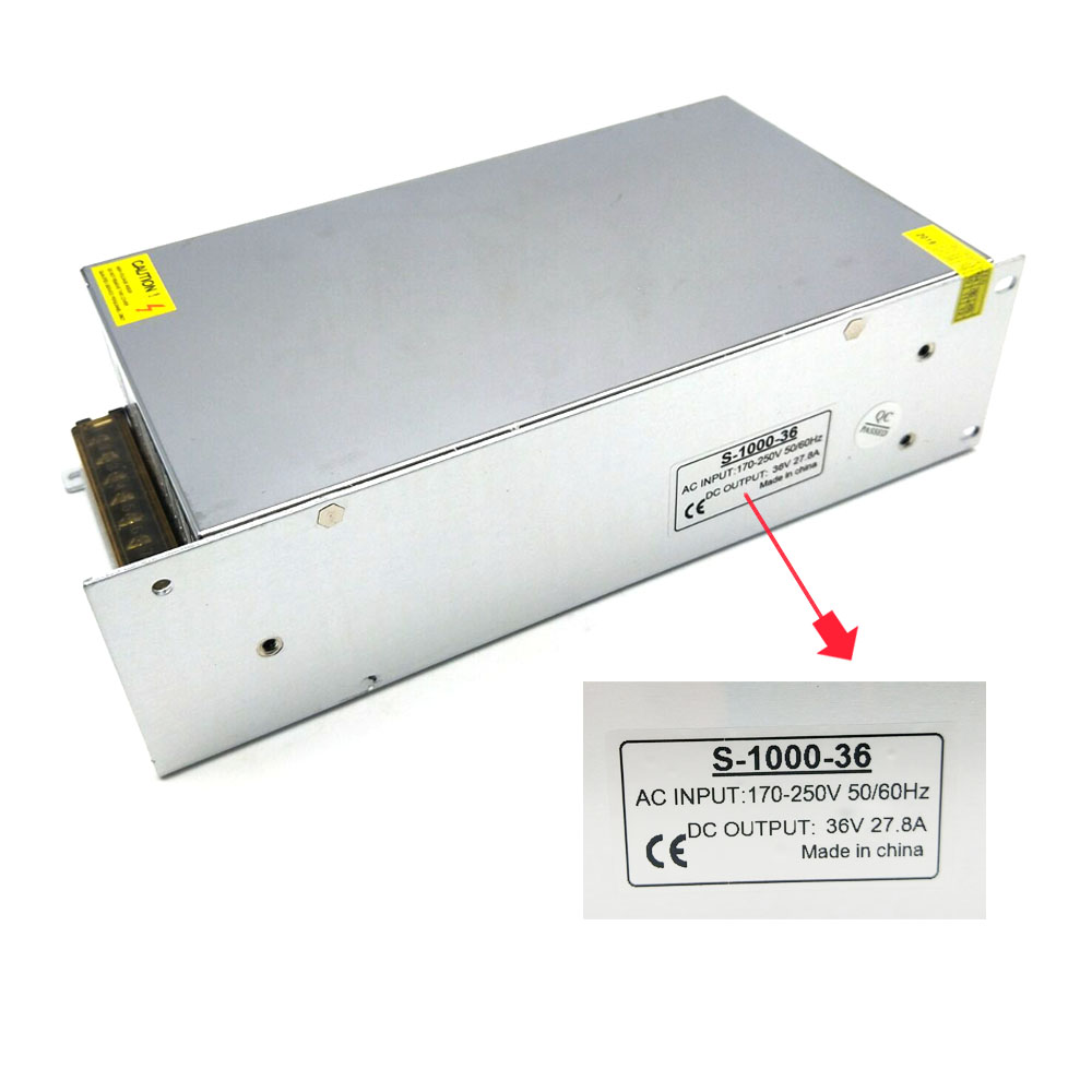 Image 3 - Ac 220V 230V 240V to Dc 36V 27.8A 1000W Led Lighting Power Supply Transformers 36V 1000W Power Supply for Led Strip-in Switching Power Supply from Home Improvement