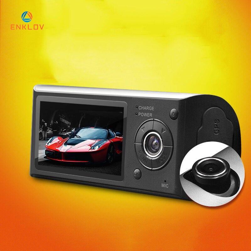 ENKLOV Mini FHD Car Recorder Night Vision Car DVR 140 Degree Wide Angle Dash Cam G-Sensor Car Camera Dual CameraENKLOV Mini FHD Car Recorder Night Vision Car DVR 140 Degree Wide Angle Dash Cam G-Sensor Car Camera Dual Camera