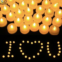 48pcs LED Electronic Flameless Smokeless Candle Lights Wedding Party Valentines Day Lamp
