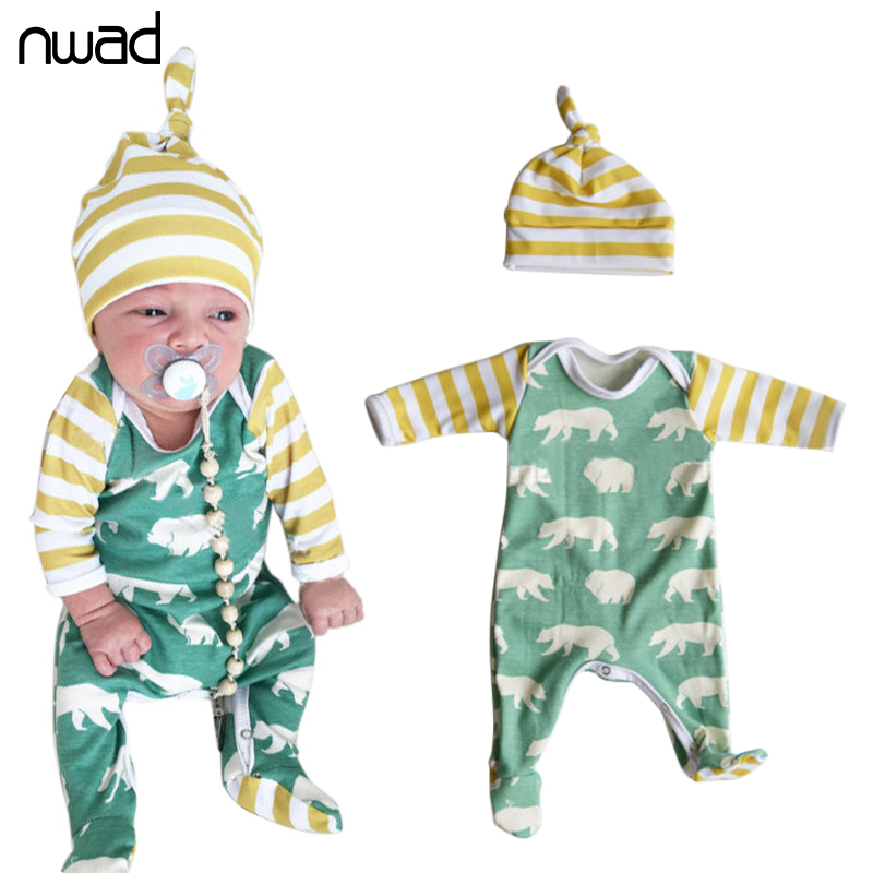 Newborn Baby Romper 2017 Fashion Animal Print Baby Clothes