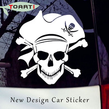 Piracy Crossbones Skull Vinyl Decal New Design Car Sticker Pirate Jolly Laptop Decals Removable Car Window Door Computer Decals somali piracy