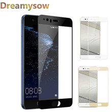 Dreamysow Full Cover Screen Protector Glass Case For Huawei P Smart Nova2i 3e P8 P9 P10 P20 Lite plus 2017 Honor 10 9 8 Lite 6A(China)