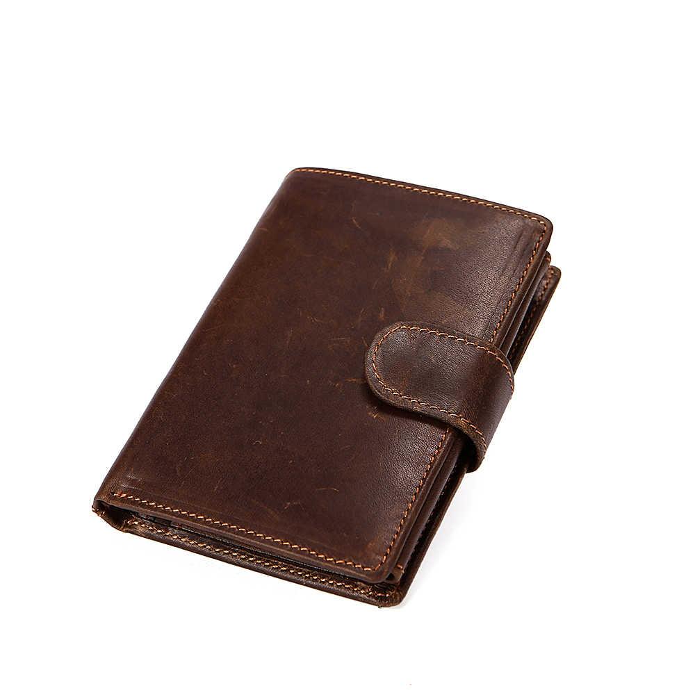 b8ff9081bb9f ... WESTAL RFID пояса из натуральной кожи короткие для мужчин бумажник  воловьей Walet женские кошельки Мужской Портмоне ...