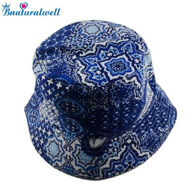Bnaturalwell Mulheres Bucket Hat Mulheres Meninas Floral chapéus bonés  chapéu do verão Da Lona de viagem c13913bce71