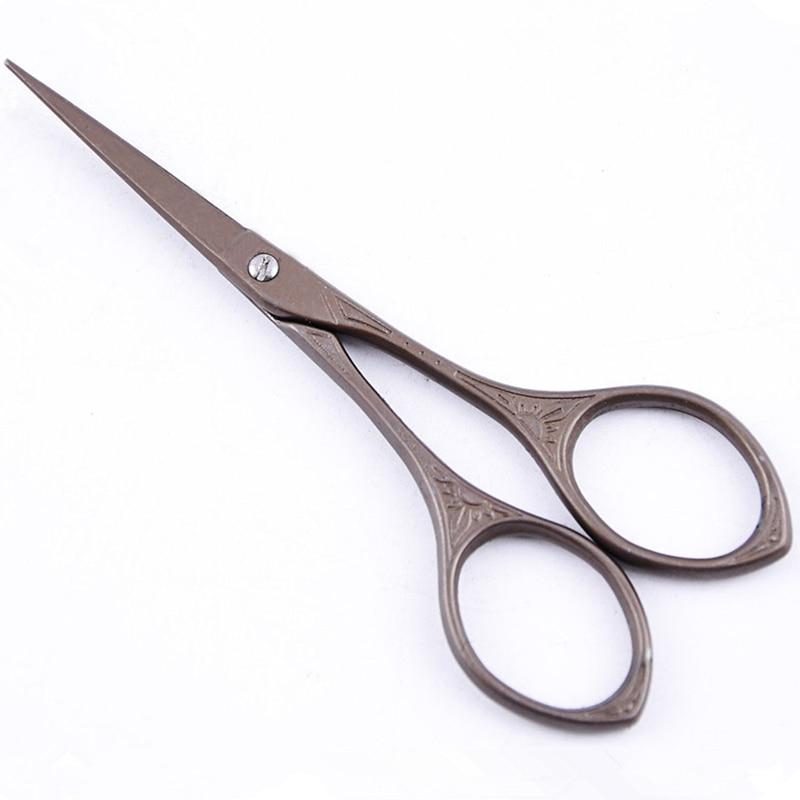 High Quality Titanium European Vintage Floral Scissors Tesouras Para Costura Handicrafts Household Scissor Sewing DIY Tools 10cm