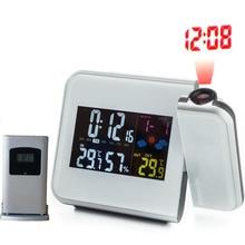 RCC Funkuhr Projektor Digitalen Schreibtisch Kalender Alarm & Snooze Wetter Outdoor Temperatur Thermometer Luftfeuchtigkeit