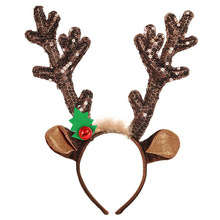 MIARA.L hoop hair Christmas supplies decorations flannelette bell antlers head band