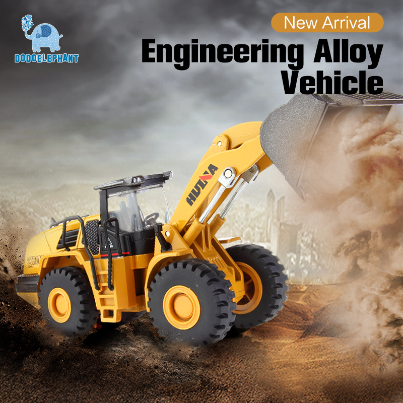 DODOELEPHANT Alloy Excavator 1:50 Model Diecast Cars Timber Grab Loader Machine Engineering Vehicles Toys For Boys Children Gift