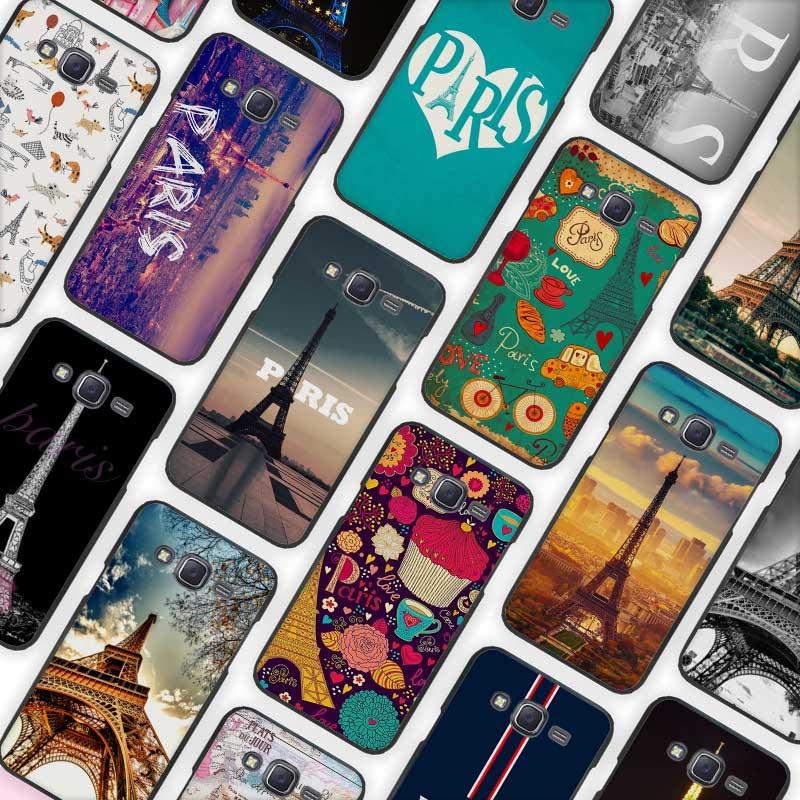 Paris minimal Black Case Cover Shell Protective for Samsung Galaxy J1 J2 J3 J5 J7 2016 2017