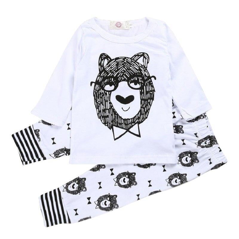Детские, для малышей Костюмы милый маленький монстр печати Топы корректирующие с длинными рукавами и круглым вырезом Рубашки для мальчиков...