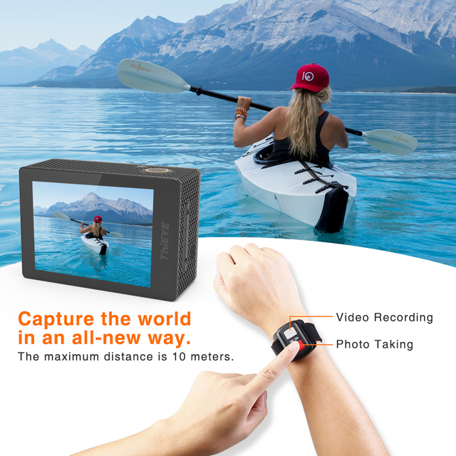 ThiEYE i60+ 4K 30fps Full HD WiFi Remote Control Action Camera 60M Waterproof Sports video Camera 170 Degree Wide-angle cam 2