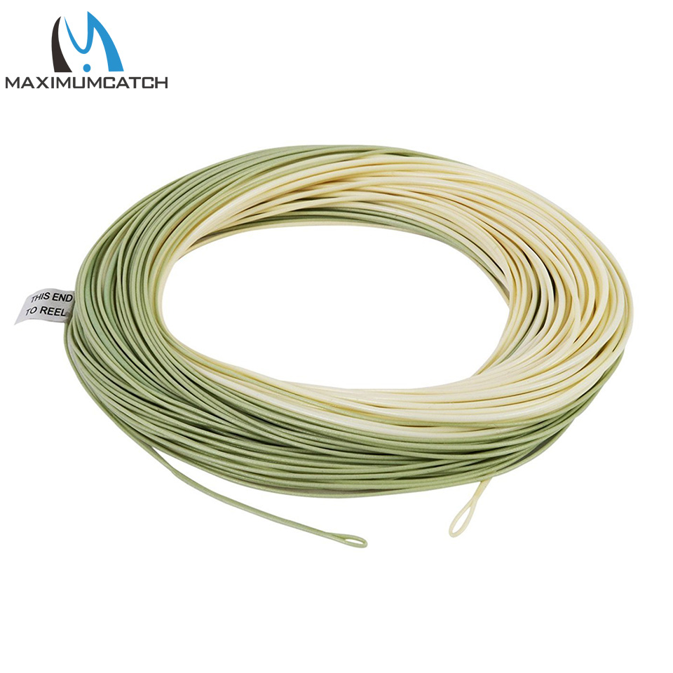 Moss Green 30m Weight Forward Floating Fly Fishing Line /& Sink Tip WF4F//5F//6F//S