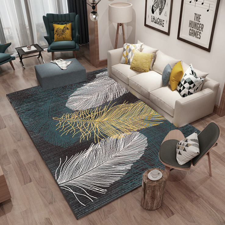 Custom SizeFeather INS Rectangle New Modern Home Mat Room Area Rug Floor Carpet For Living Room Bedroom Carpets Kitchen Mat MT91