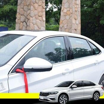 Çelik Krom üst Pencere çerçevesi Eşik Trim 6 Adet VW Jetta Için Mk7 2019