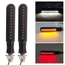 Движущаяся сигнальная лампа 24 светодиодный последовательный световой индикатор дневные ходовые огни задние поворотные сигнальные тормозные лампы для автомобиля мотоцикла