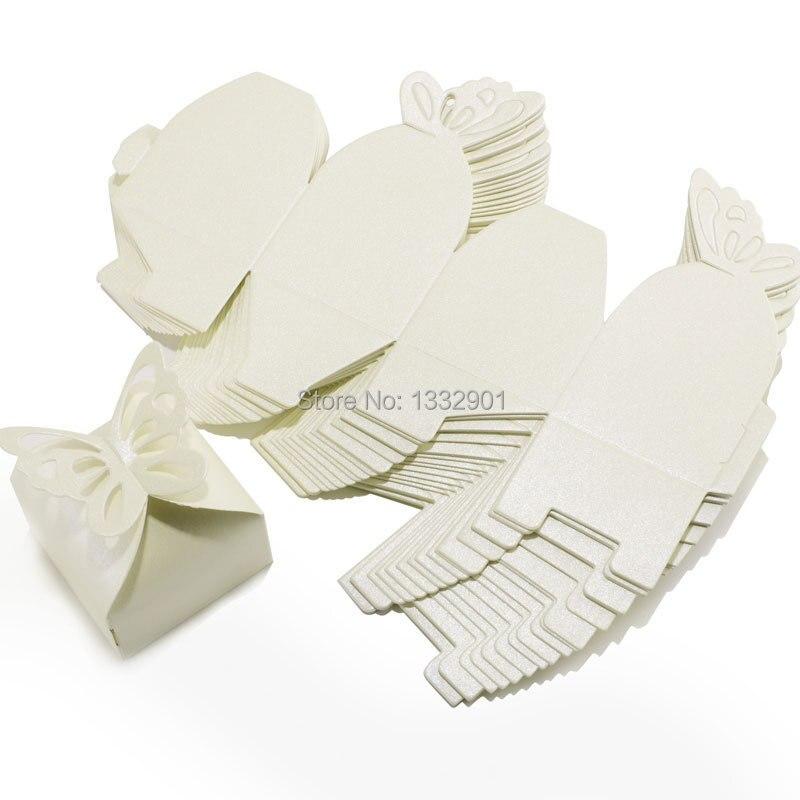 cajitas caja de boda para bombones caramelos regalo color marfil mariposa en de en alibaba group