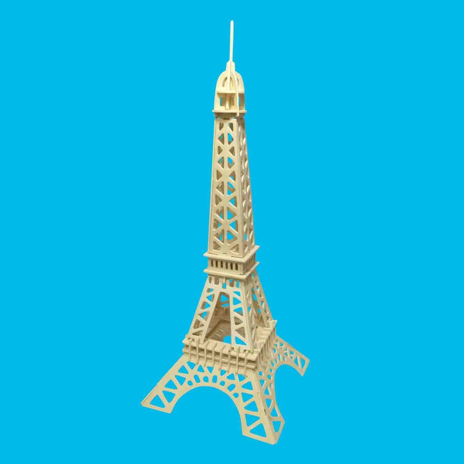 Bloques de construcción de Arquitectura de madera 3d Torre Eiffel bebé juguetes de madera para niños DIY presenta regalo educativo bloque de bebé Versión mejorada superhéroes Ironman Compatible Legoinglys Marvel Avenger Torre Fit Avengers regalo bloques de construcción de Juguetes