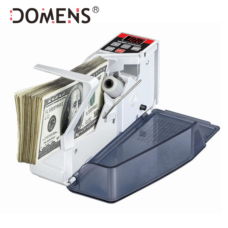 Mini Portable Handy Money Counter til de fleste valutaer Note Bill Cash Counting Machine EU-V40 Finansiel Udstyr Engros