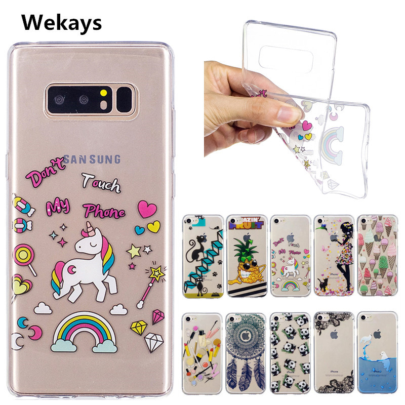 For Samsung Note 8 Cute Cartoon Cat Panda Transparent Silicone Case For Samsung Galaxy Note 8 Note8 Cover Tpu Case Capa Fundas Silicon Case For Samsung Case For Samsung Galaxycase For Samsung Aliexpress