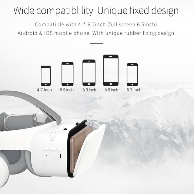 BOBOVR Z6 Upgrade 3D Glasses VR Headset Google Cardboard Bluetooth Virtual Reality Glasses Wireless VR Helmet For Smartphones 4