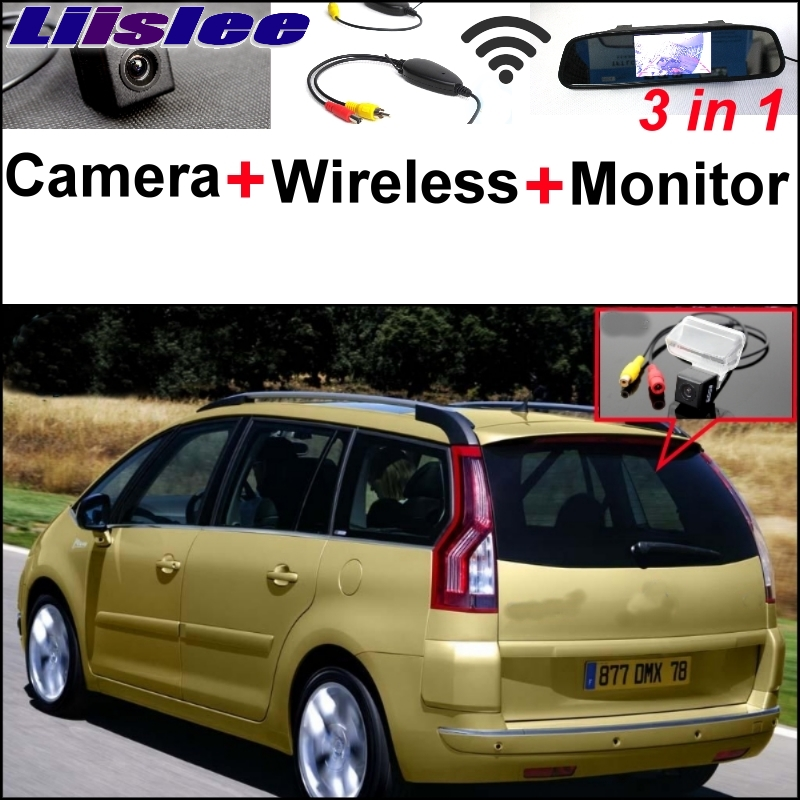 Liislee Wireless Receiver + 3 in1 Special Camera + Mirror Monitor Easy DIY Back Up Parking System For Citroen C4 Picasso цена