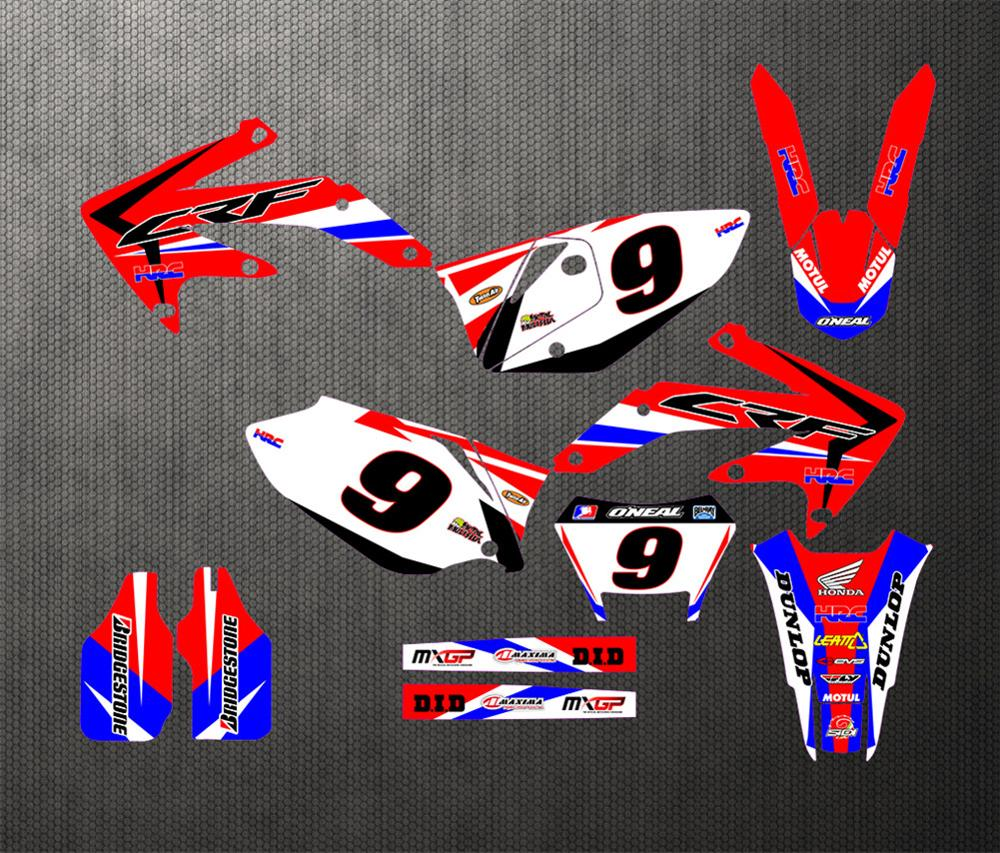 GRAPHICS BACKGROUNDS DECALS STICKERS Kits for Honda CRF450X 4 STROKES 2010 2012 2013 2014 2015 2016