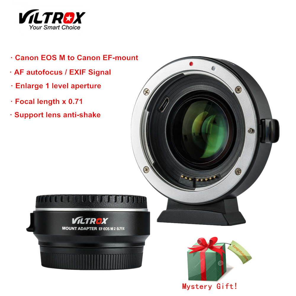 Viltrox EF E0S M2 Focal Reducer Booster Adapter Auto focus 0 71x for Canon EF mount