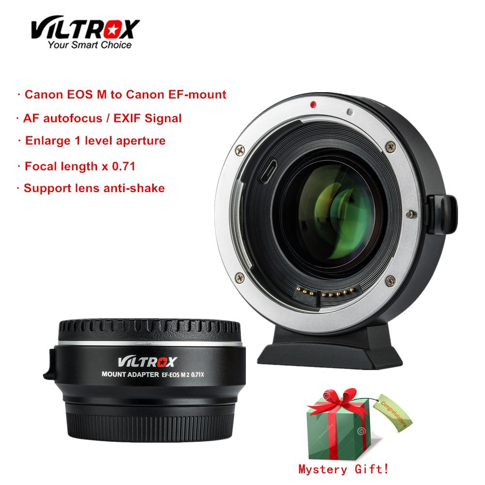 Viltrox EF-E0S M2 réducteur Focal Booster adaptateur Auto-focus 0.71x pour Canon EF monture objectif à E0S M caméra M6 M3 M5 M10 M100 M50