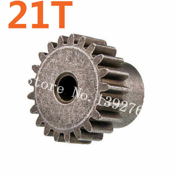 11181 Logam Gear Motor 21 T Pinion HSP 1/10 Bagian untuk EP RC Rakasa Truk Hobi Baja Amax 94111 Brontosaurus