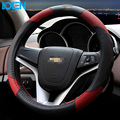 Couro genuíno cobertura de volante de carro cobre universal para bmw ford kia honda vw chevrolet toyota hyundai volantes