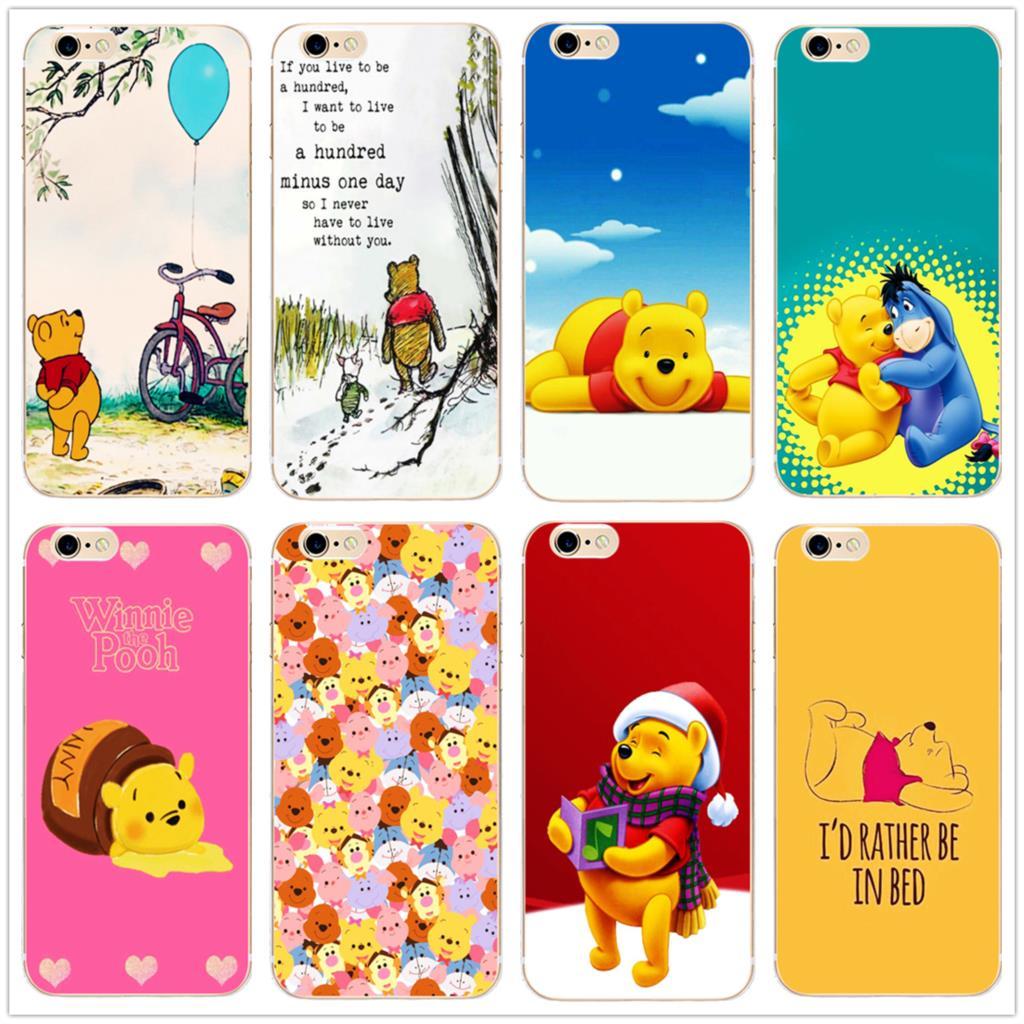 Винни Пух cute bear чехол для телефона Мода Обложка для samsung s8 s9plus S6 S7Edge S5 для iPhone 7 6s 8 плюс 5 5c 4 X XS XR XSMAX