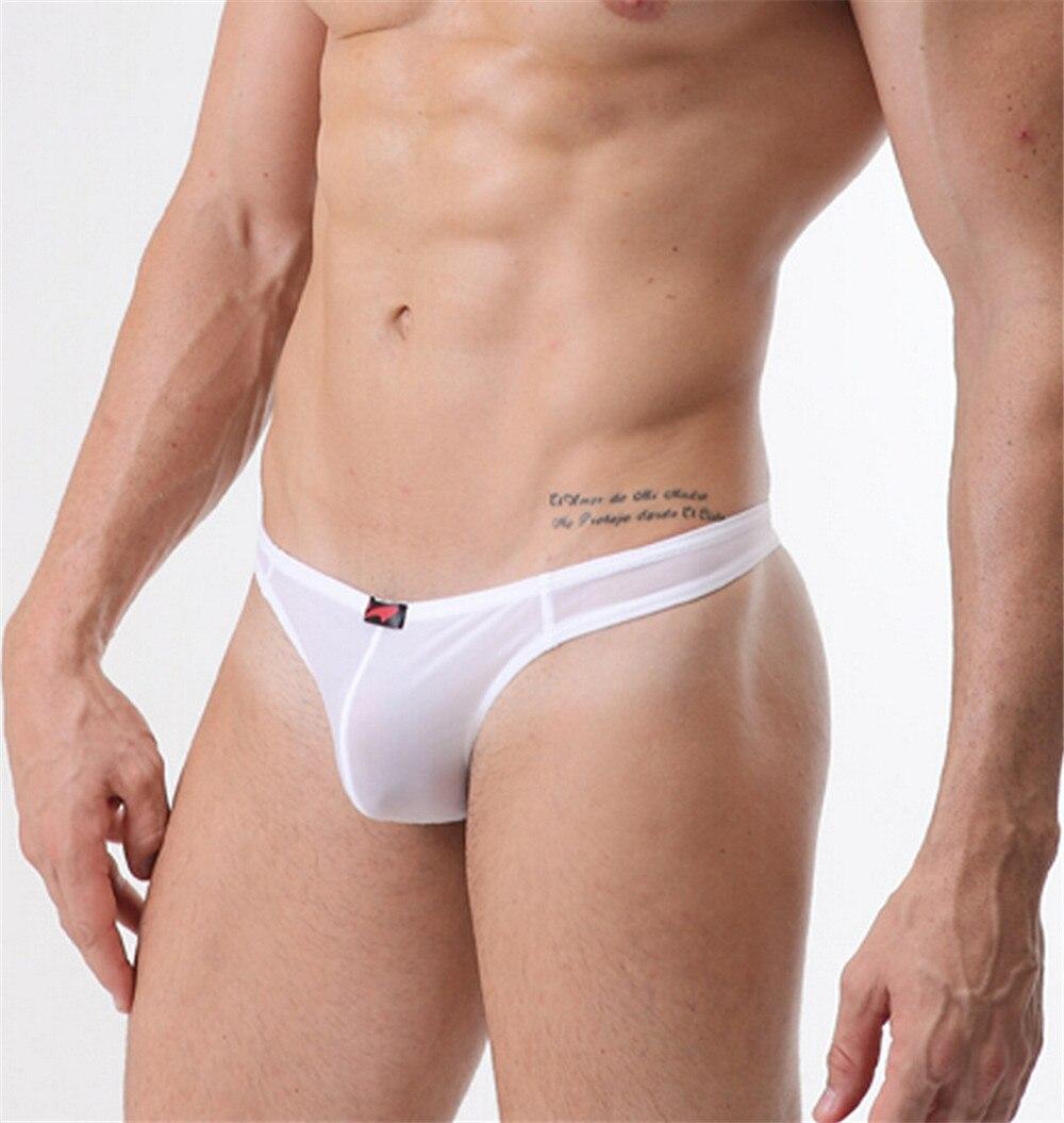 Ultra Thin Sex Mens Ice Silk Thongs Breathable Soft Men -1526