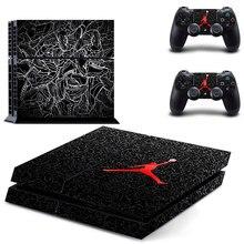 Играть баскетбольная Наклейка для PS4 Стикеры для sony Playstation 4 консоли защиты плёнки+ 2 шт. Пульты ДУ игровых приставок 9 pattrns