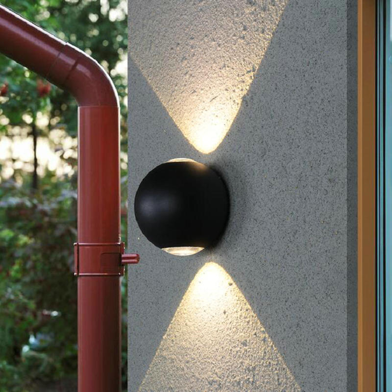 12W Modern LED Wall Light Waterproof Outdoor Garden Porch Wall Sconces Indoor Wall Lamps Aluminum Balcony Patio Wall Lights