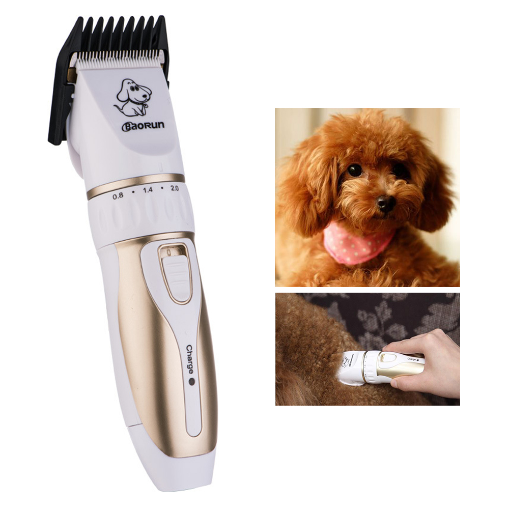 BaoRun P3 Professional Rechargeable Pet Cat Dog Hair Trimmer Animal Grooming Shaver Electrical Clippers Hair Cut Machine110-240V biaoya rechargeable hair clippers set 220 240v ac