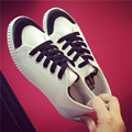 White canvas shoes woman flat lace up casual shoes students fashion sweet style mixed colors mujeres zapatos