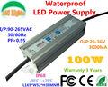 20W 30W 40W 50W 60W 70W 80W 90W 100W 110W 120W IP67 Waterproof Lighting transformer AC85-265V LED Driver 20-36V Power Supply CE