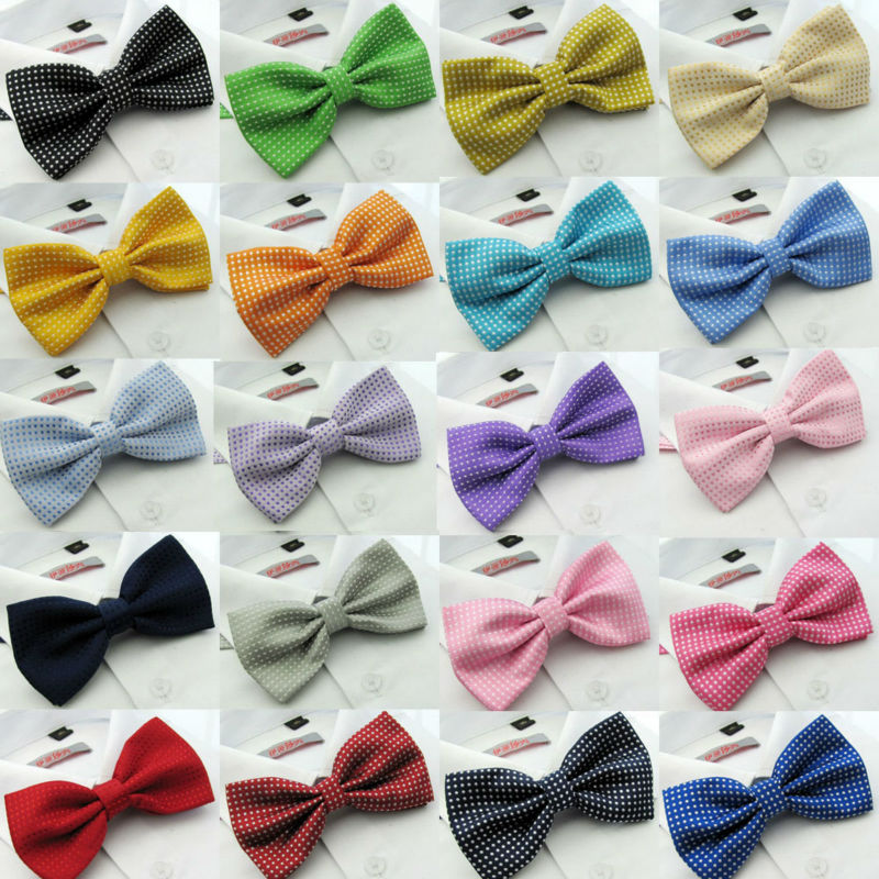 NEW Men Classic Dots Bow Ties Fashion Tuxedo Neckwear Adjustable Mans Wedding Bow Tie 2014 Male Polyester Bowties