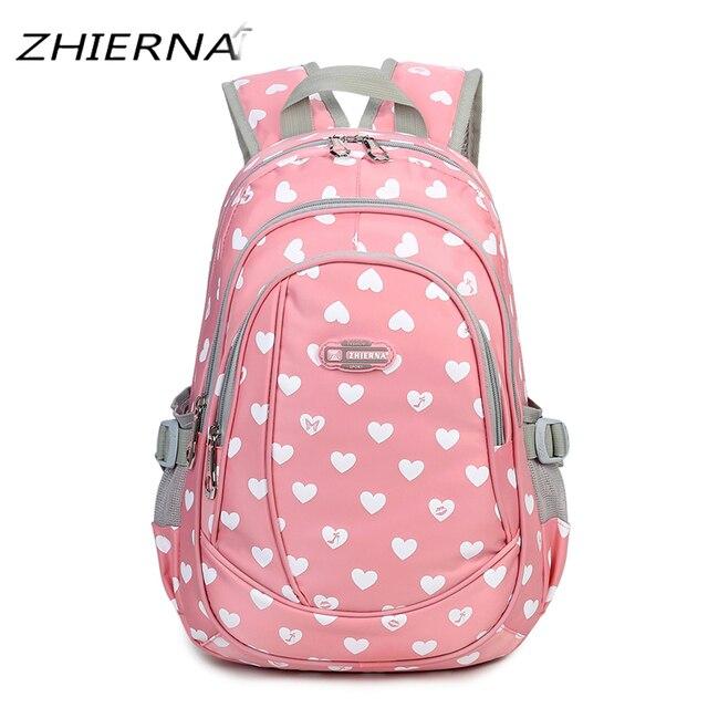 ZHIERNA School Backpack for Teenage Girls Preppy Style Bookbag ...