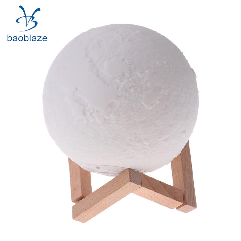 3D Printing Moon Lamp USB LED Night Light Moonlight Xmas Gift Touch Sensor Color Changing Yellow/Cold White/Warm White