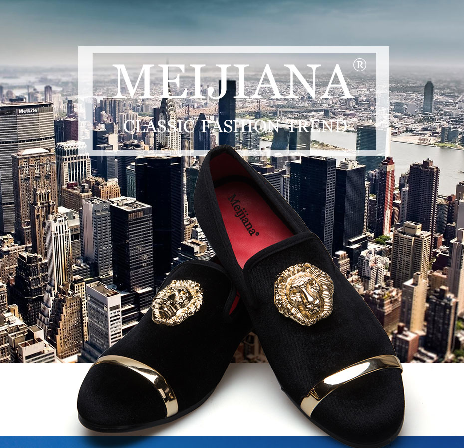 HTB1.DoAXRRRMKJjSZPhq6AZoVXaM - New Fashion Gold Top and Metal Toe Men Velvet Dress shoes italian mens dress shoes Handmade Loafers