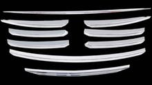 Car body cover protect detector ABS chrome trim Front up Grid Grill Grille molding 9pcs For Mazda CX-5 CX5 2015 2016