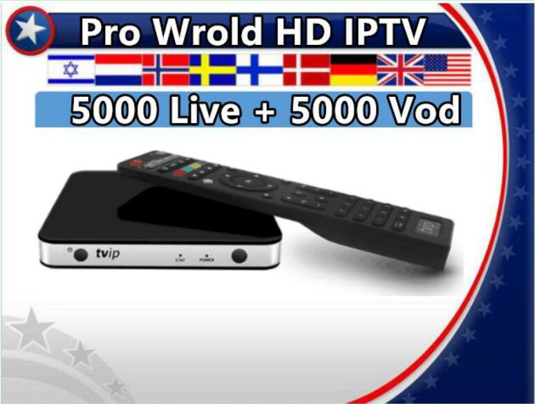 TVIP605 Android Linux Dual OS Support APK Smart TV Box Pro World HD Subscription Nordic France