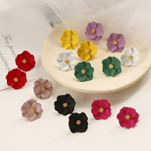 US $1.01 49% OFF|Shiny Side New Fashion Brand Jewelry Simple Flower Stud Earrings for Women Gift Elegant Earrings Accessories-in Stud Earrings from Jewelry & Accessories on AliExpress