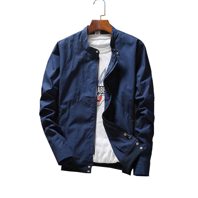 2017 Новая осень мужские Куртки Пальто Мода Сплошной цвет Мужской Случайный Бейсбол Куртка Для Мужчин Верхняя Одежда