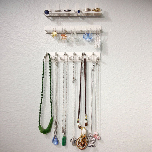 Plastic Jewelry Organizer Hanging Holder Earring Necklace Display