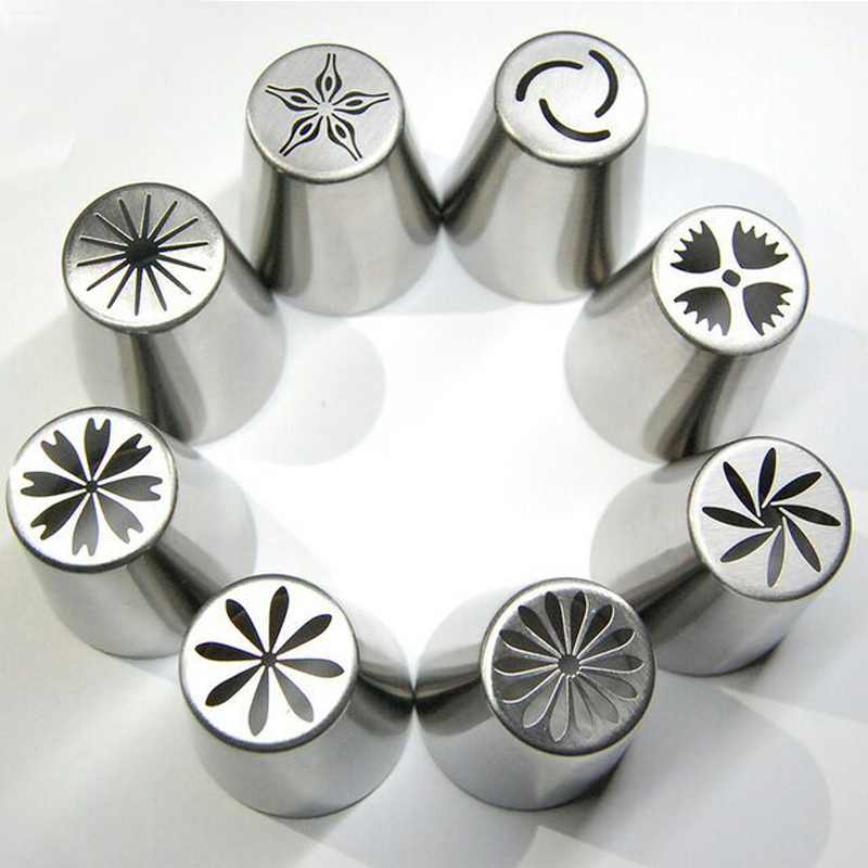 Cake Decorating Tips Rust : Aliexpress.com : Buy 8 PCS Stainless Steel Pastry Nozzles ...